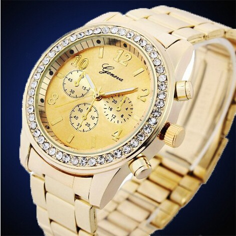 Girls Fashion Crystal Watches_Luxury Jewlery