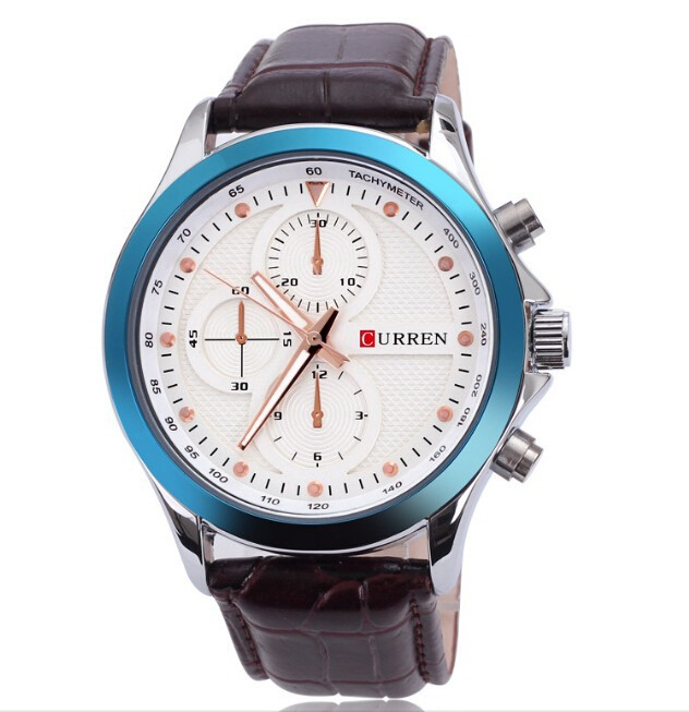 Original Genuine Leather Curren Brand Men Smart Watch
